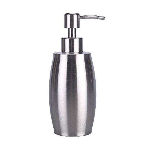 Soap Dispenser, ARKTeK Premium Stainless Steel Liquid Soap Dispenser for Kitchens & Bathrooms with 2nd Gen. Production Process, 24 Months Not Rusty Guarantee (Silver) (Liquid Bathroom Soap Dispenser compare prices)