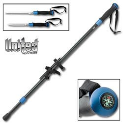 United Cutlery 2559B Black and Blue Cathedrak Peak Hiking Staff