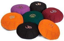 Round-Embroidered-Cotton-Meditation-Zafu-2-Color-Ohm-on-Purple