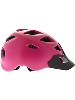 Bern Satin Fuchsia Purple Black 2015 Prescott Zipmold-Visor Womens MTB Helmet from Bern
