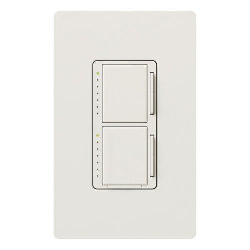 Lutron MA-L3L3-WH Maestro 300 Watt Single Pole Dual Dimmer, White