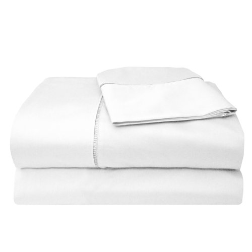 MADE IN THE USA 800TC 100% Cotton Sateen Legacy Sheet Set California King, White By Veratex (Made In Usa Sheet Set compare prices)