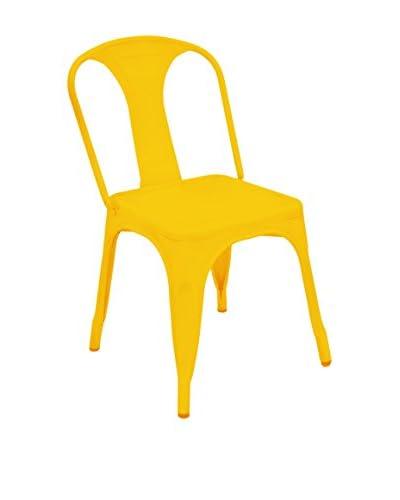Three Hands Metal Chair, Yellow