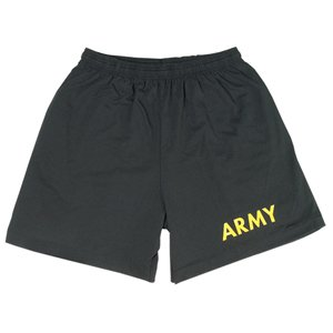 Running Shorts Army - Black - Gold Imprint 2XL
