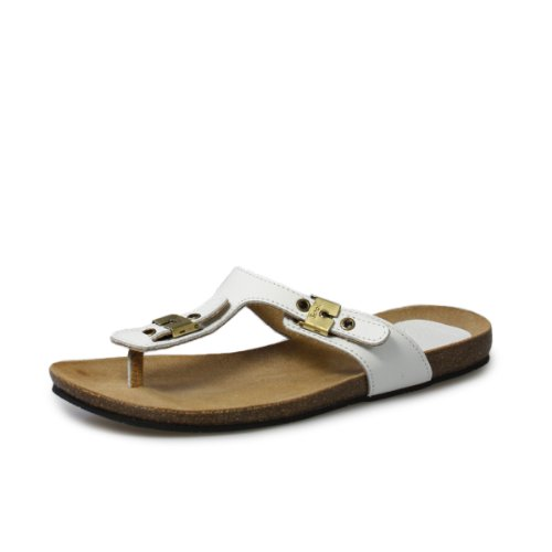 Scholl New Bimini Off weiß Leder Sandals
