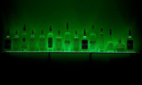 """3' 6"""" Led Lighted Wall Mounted Liquor Shelves Bottle Display , Wall Mounted Shelf , Wall Mounted Wine Shelves"""