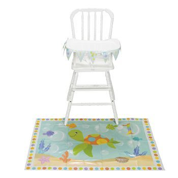Under The Sea First Birthday High Chair Decorating Set