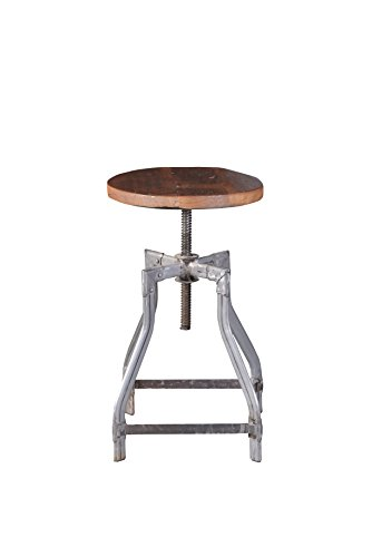 SALE-Barhocker-hhenverstellbar-mit-Gewinde-DREHBAR-von-1stuff-aus-massivem-recyceltem-Massivholz-im-antiken-Vintage-Look-Gewindehocker-Barstuhl-Barsessel-Vintage-Hocker-Barhocker-40x40x50-65cm-Holz-te