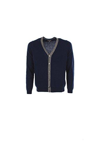 Cardigan Uomo Henry Cotton's 2xl Blu 94139 01 98100 Autunno Inverno 2016/17