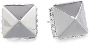 Vince Camuto Silver and Crystal Mini Stud Earrings