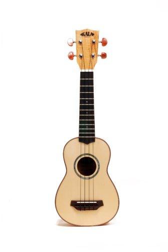kala flamed spalted maple soprano ukulele soprano ukulele. Black Bedroom Furniture Sets. Home Design Ideas
