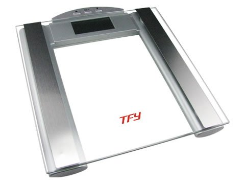 Cheap TFY High-Capacity Scale with Body Composition Analyzer – Measures Body Fat, Hydration, Muscle and Bone Mass – Five Athletic Modes – 12 Personal Profiles (440 lb.) (TGF-302A)