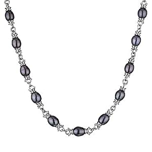 Click to buy Honora Pearl Necklaces: Black Pearl Necklace from Amazon!
