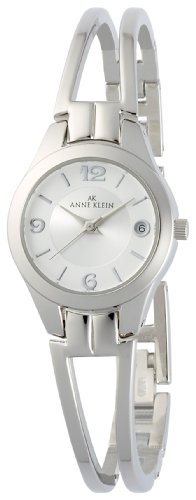 AK Anne Klein Women's 107407SVSV Silver-Tone Bangle Bracelet Dress Watch
