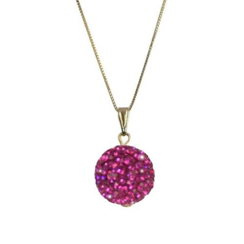 Tarantella Fuchsia Diamante 14ct Gold Vermeil Pendant Necklace