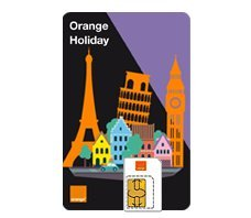 Orange holiday Europe (120 mn, 1000 SMS, 1Gb of data in Europe)