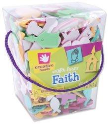 Fibre Craft Foam Stickers 5 Ounces/Pkg Faith 27972E; 3 Items/Order