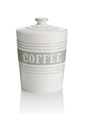 Striped Coffee Storage Jar
