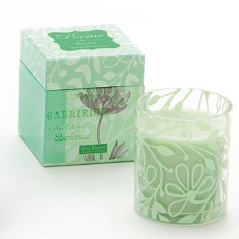 Demdaco Mint Breeze Candle - Flower - Vanilla and Mint #10599