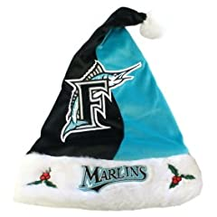 Florida Marlins MLB Santa Hat by Caseys
