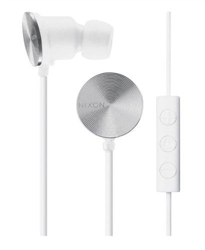 Nixon Wire 3-Button Mic Headphones White, One Size