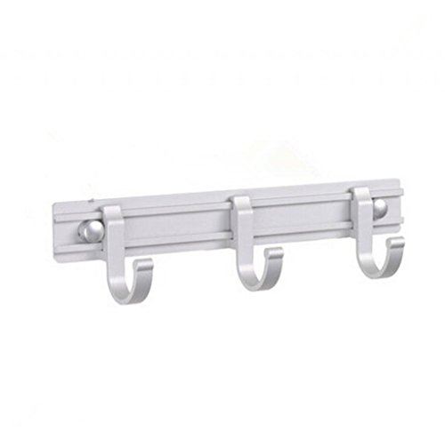 Movable Wall Mounted Towel/Clothes/Hats Hook With Concealed Screws