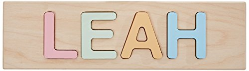 aBaby Personalized Leah Pastel Name Puzzle