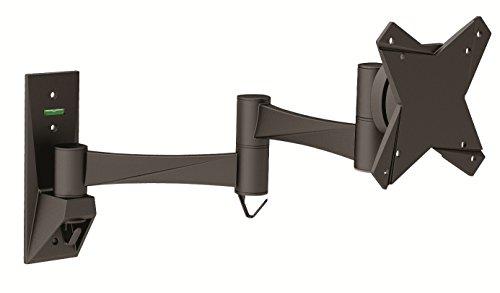 """Intecbrackets® - Supporto cantilever da muro compatibile con tutti i modelli di DVD/TV da 17""""/19""""/20""""/22""""/23""""/24"""", con perno rotante e inclinabile"""