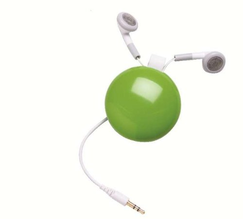 Funkyfonic Retractable Earbuds Green