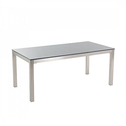 Edelstahltisch-grau-poliert-180-cm-single-Granitplatte-rostfrei-GROSSETO
