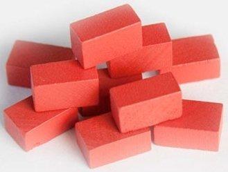 Mayday Games Brick / Clay – Ziegelstein Wooden Token Set – Holz Spielsteine