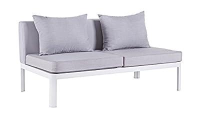 Bizzotto Gartenlounge-sofa Kemen - Exklusiver Moderner 2-sitzer Alu-rahmen von Bizzotto - Gartenmöbel von Du und Dein Garten