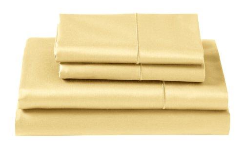 Cuddledown 400 Thread Count Flat Sheets, Queen, Lemon front-1035977