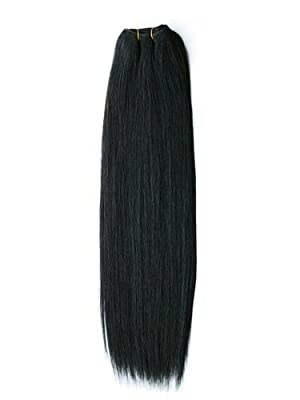 20 inch TRUE Virgin Indian Remy Hair #1B Silky Straight REAL HUMAN HAIR 100%
