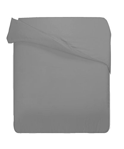 Wrinkle Resistant 600Tc Cotton Rich King Solid Grey Duvet Cover Only By Marrikas front-893955