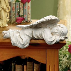 Sleeping Angel Cherub SHELF SITTER statue Sculpture