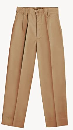 Classroom Little Boys' Uniform Pleated Front Pant,Khaki,4