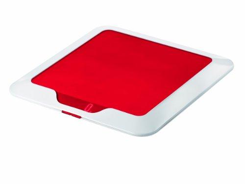 Guzzini 16850065 Balance de Cuisine Electronique Slim Rouge Transparent 2 x 23 x 23 cm