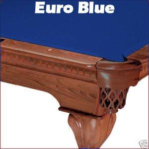 8' Euro Blue Mali Pool Table Cloth Felt front-28133