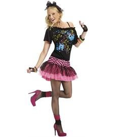 80s Pop Party Costume for Women. Two Sizes