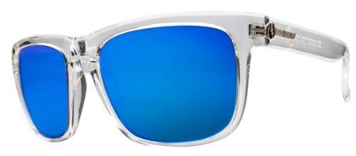 Electric Knoxville Sunglasses Titanium Clear Melanin Grey Blue Chrome Es09042362
