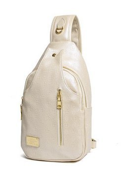 Multiuso donne Casual Pelle Pu Borsa A Tracolla Diagonal Outdoor Chest - Zaino - Bianco