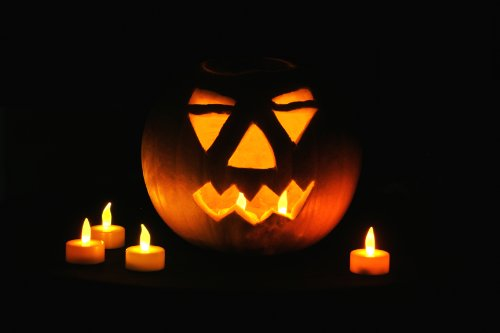 Elektrische LED Teelichter -  6er Set, für Halloween