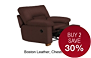 Buxton Chair Recliner (Non Storage) - Leather