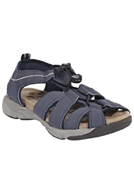 Comfortview Women's Wide Sandal, Suede Look, Fisherman Style, The Trek From Cv