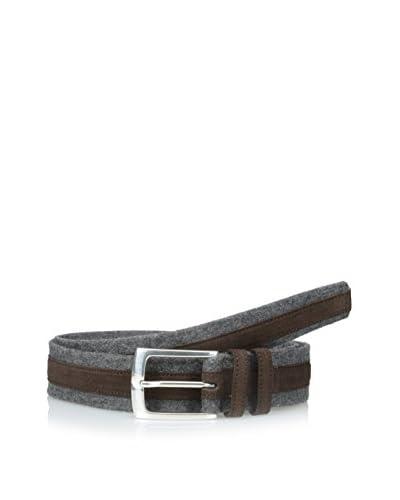 Hickey Freeman Men's Flannel and Suede Belt