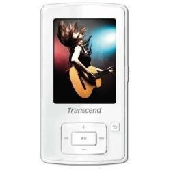 Transcend MP 860 MP3-/Video-Player 8 GB (6,1 cm (2,4 Zoll) TFT LC-Display, MicroSDHC-Slot, USB 2.0) weiß