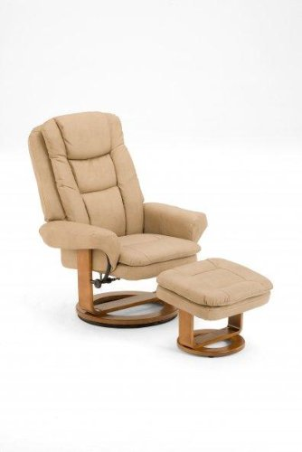 Swivel Recliner And Ottoman front-1066096