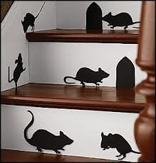 MICE WITH HOLES ~ HALLOWEEN: WALL OR WINDOW DECAL, 11