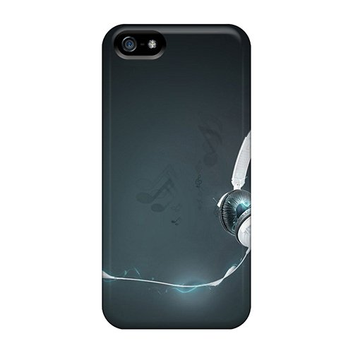 Hard Plastic Iphone 5/5S Case Back Cover,Hot Headphones Case At Perfect Diy